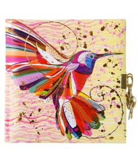 Jurnal lacatel Goldbuch Flower Kolibri 17x17 cm