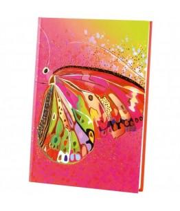 Agenda Goldbuch A5 cu efect special Fluture roz