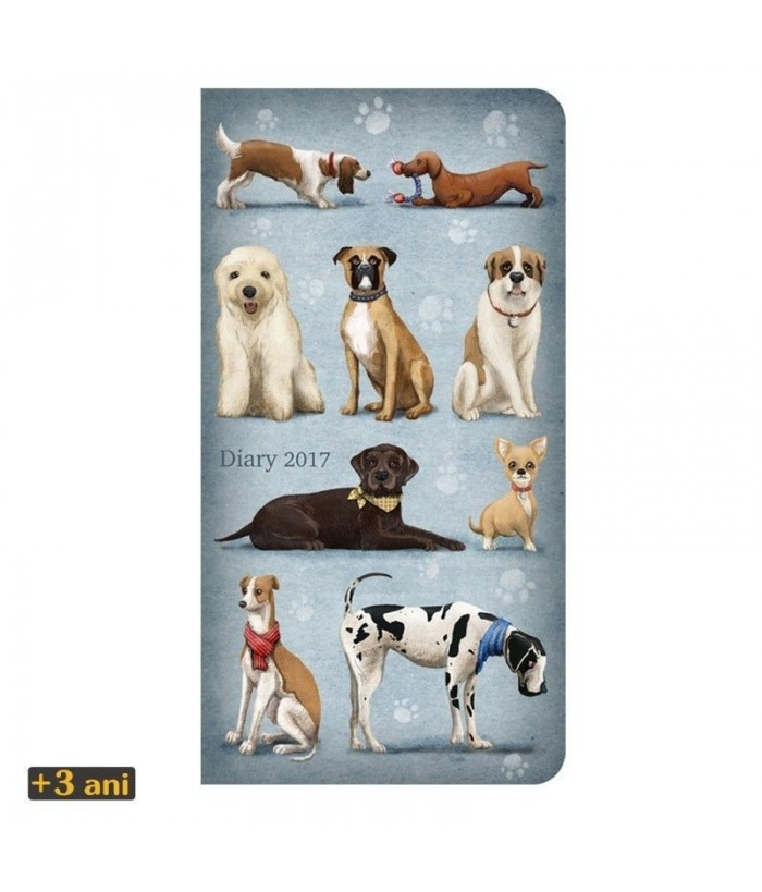 Agenda datata 2017 Dogs de la Santoro