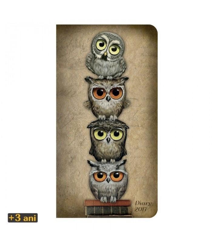 Agenda datata 2017 Eclectic Book Owls