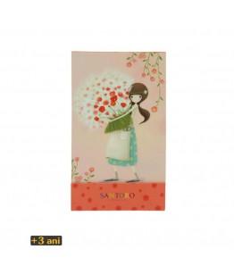 Kori Kumi Carnet notite de buzunar Pretty as a Flower