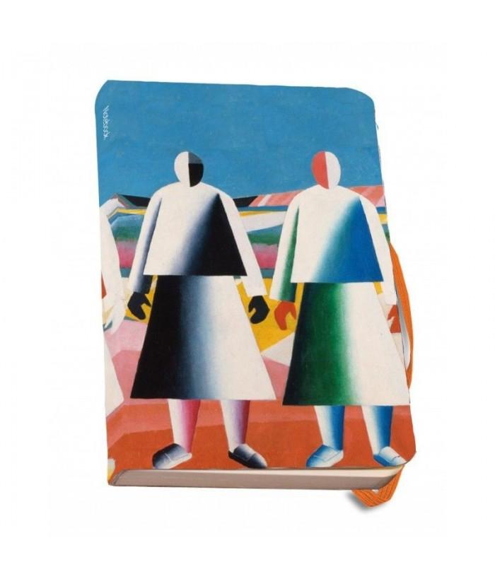 Agenda A5 banda elastica Meisjes in een veld, Malevich