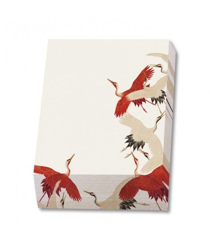 Bloc notite 164 file Woman haori with Red and White Cranes