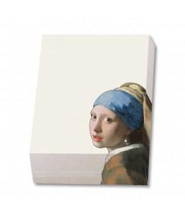Bloc notite 164 file Meisje met de parel, Johannes Vermeer