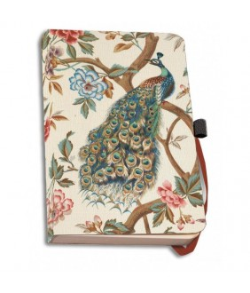 Agenda coperti textile A6 The Magnificent Peacock