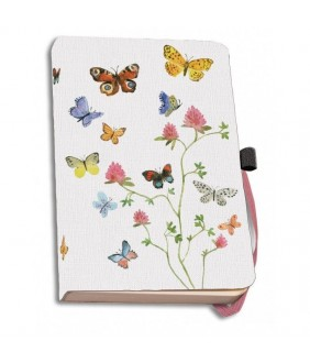 Agenda coperti textile A6 Flowers, Butterflies and Birds, Alice Appleton