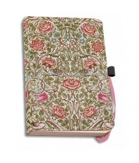Agenda coperti textile A6 Rose, William Morris, VA Museum