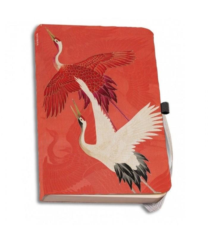 Agenda coperti textile A5 Woman haori with Red and White Cranes