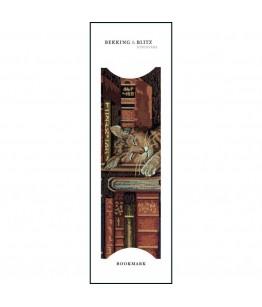 """Semn de carte Gobelin uit Rusland """"Kat op boekenplank"""""""