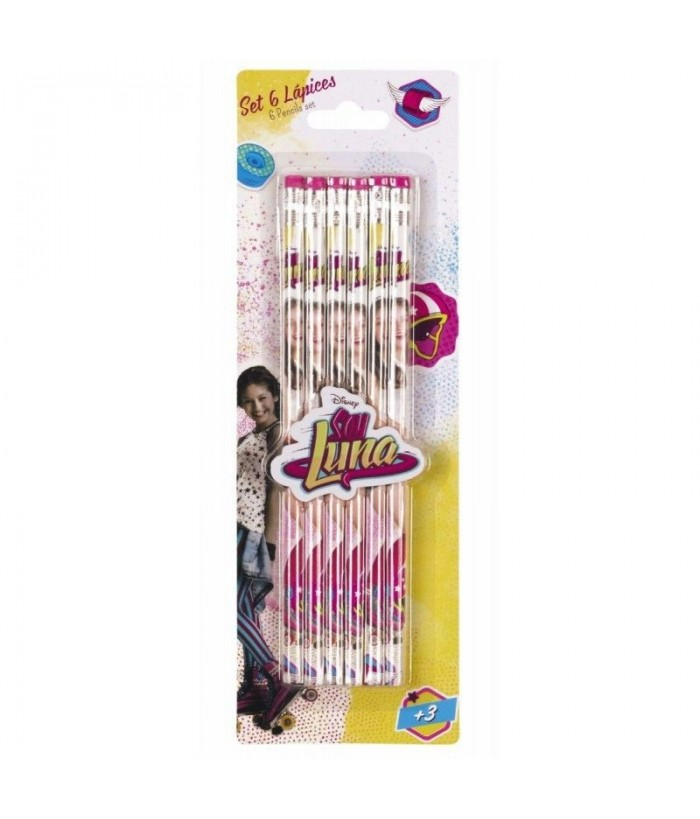 Set 6 creioane SOY LUNA 8x25