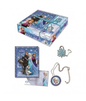 Set Jurnal cu lacatel 3D si colier Frozen