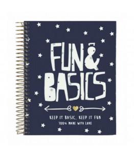 Agenda A6 120 file Fun  Basics 14.6x11.8 cm