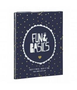 Dosar cu 3 elastice Fun  Basics 33.5x26 cm
