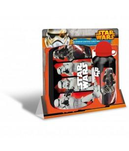 Set recipient apa Al 500ml si cutie pranz Star Wars rosu