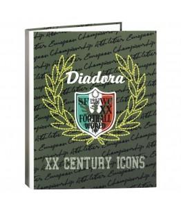 Biblioraft A4 cu 4 inele din carton colectia Diadora XX