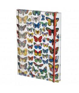 Agenda nedatata cu coperti tari si elastic A6 Plaat met vlinders