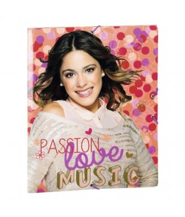 Dosar din carton cu elastic colectia Violetta Love