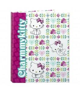 Biblioraft A4 cu 4 inele din carton colectia Charmmy Kitty Flowers 2
