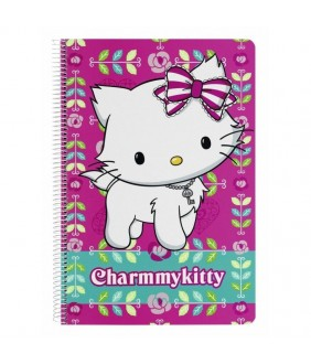 Caiet cu spira A4-80 de file colectia Charmmy Kitty Flowers 2