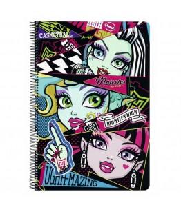 Caiet cu spira A4-80 de file Monster High