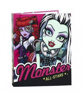 Caiet mecanic 4 inele Monster High All Stars