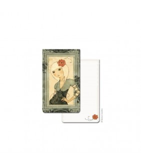 Mini agenda Eclectic Girl with red flower