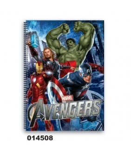 Caiet dictando cu spira A5 (80file) colectia Avengers