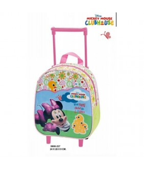 Trolley cu rucsac junior Minnie Mouse 24x28x9 cm