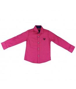 Camasa baiat rosie cu imprimeu, maneca lunga/scurta, 18 luni, 86 cm