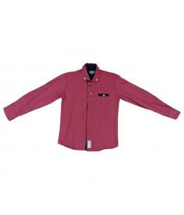 Camasa baiat rosie, maneca lunga, 5 ani, 110 cm