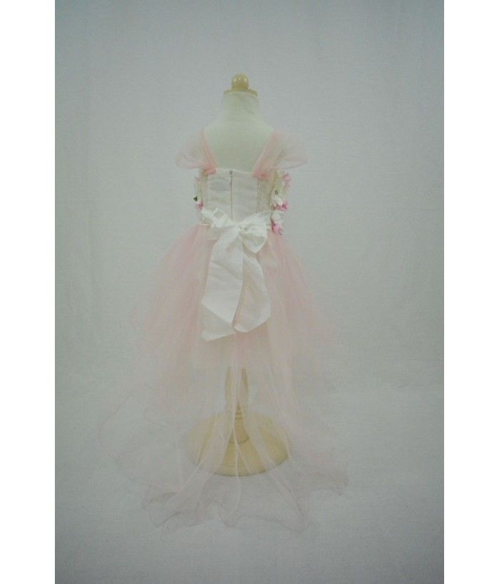 Rochita pentru fetite, Andre, tulle, roz, 4-8 ani, 104-128 cm