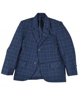 Sacou ocazie baieti Adriano, elegant/casual, bleumarin, carouri, 2 ani, 92 cm