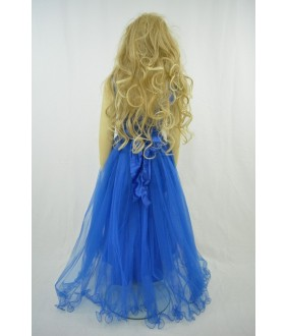 Rochita pentru fetite, Margaret Navy, albastru, tulle, 9-13 ani, 134-158 cm