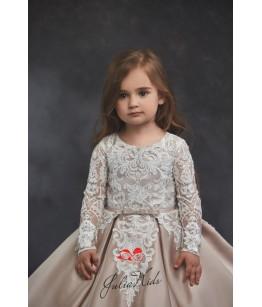 Rochie eleganta pentru fete, 2-13 ani, 92-158 cm, tafta cu dantela , JuliaKids, 26782